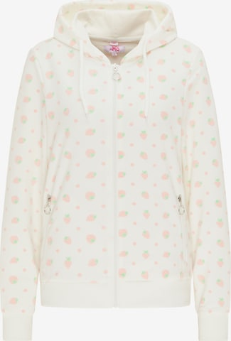 MYMO Zip-Up Hoodie in White