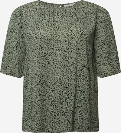 KAFFE CURVE Bluse 'Cliana Ami' in grasgrün / schwarz, Produktansicht