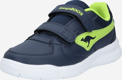 KangaROOS Baskets 'K-Cope V' en bleu marine / citron vert, Vue avec produit