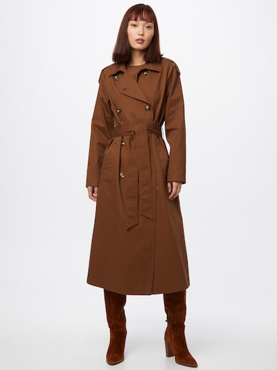 OBJECT Overgangsfrakke 'OBJCLARA' i brun, Modelvisning