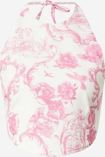 rózsaszín / fehér Missguided Top 'HANKY', Termék nézet