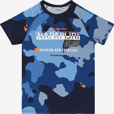 NAPAPIJRI T-Shirt 'SOBBI' in blau / dunkelblau / apricot / weiß, Produktansicht
