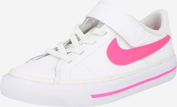 balts Nike Sportswear Brīvā laika apavi 'Court Legacy'