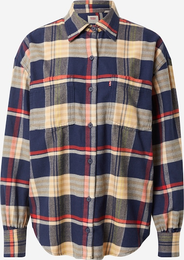 LEVI'S Blouse 'REMI' in marine blue / Light brown / Red, Item view