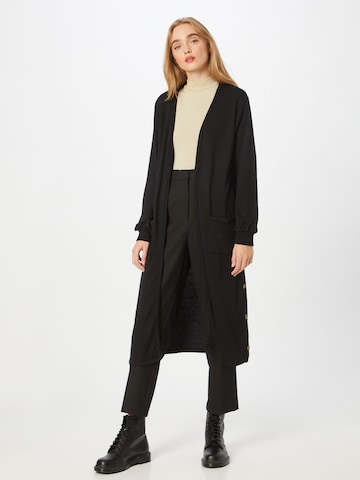 Cream Knitted Coat 'Sally' in Black