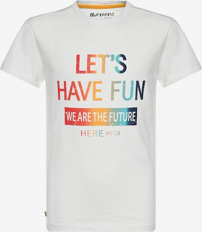 BLUE EFFECT Shirt 'Let's have fun' in Navy / Turquoise / Light green / Red / White, Item view