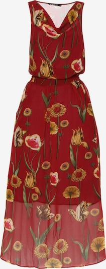 Madam-T Kleid 'Zakia' in mischfarben / rot, Produktansicht