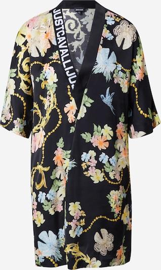 Just Cavalli Kleid in hellblau / goldgelb / oliv / schwarz / weiß, Produktansicht
