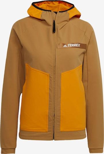 adidas Terrex Jacke 'Terrex' in braun / orange, Produktansicht