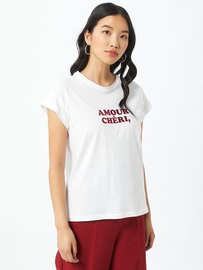 Grace & Mila T-shirt 'BENOIT' en lie de vin / blanc: Vue de face