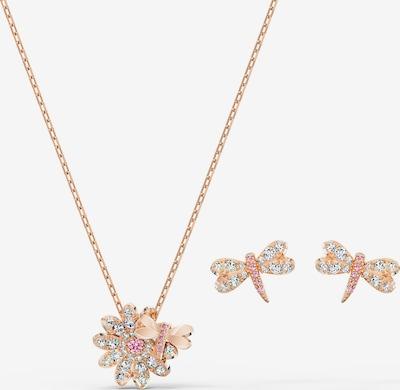 Swarovski Parure de bijoux 'Eternal Flower Dragonfly' en or rose / rose, Vue avec produit