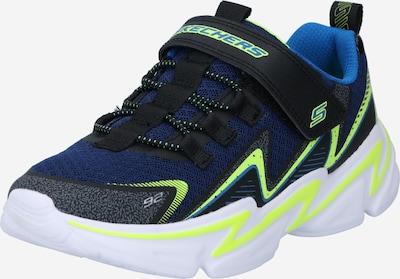 SKECHERS Sneaker in blau / royalblau / neongelb / graumeliert, Produktansicht