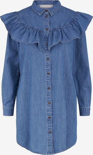 PIECES Blusenkleid in blue denim, Produktansicht