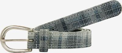 Petrol Industries Ledergürtel in blau / grau, Produktansicht