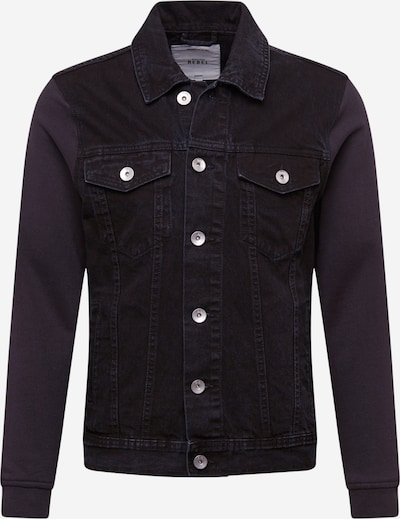 Redefined Rebel Tussenjas 'Jonah' in de kleur Black denim, Productweergave
