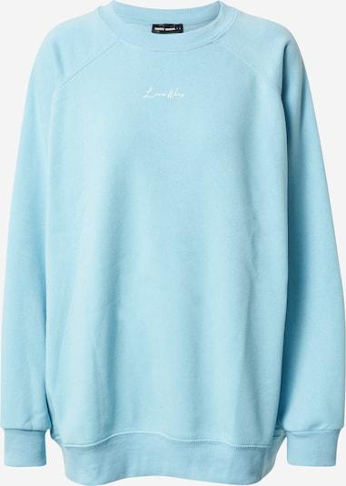Tally Weijl Sweatshirt i lyseblå / hvid, Produktvisning