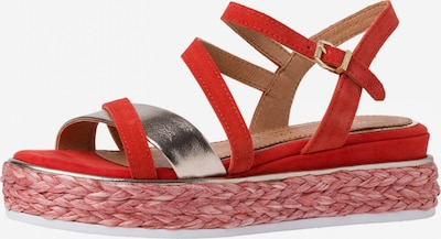 Sandale cu baretă MARCO TOZZI by GUIDO MARIA KRETSCHMER pe roșu / argintiu, Vizualizare produs