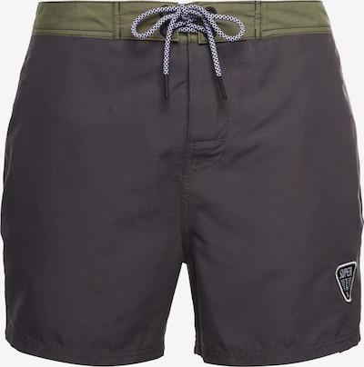 Superdry Boardshorts en vert / noir, Vue avec produit