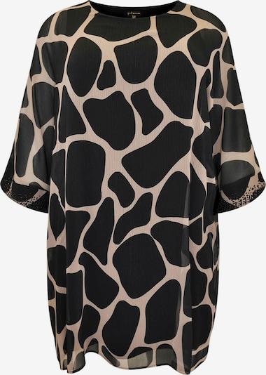 Yoek Jurk ' Giraffe ' in de kleur Beige / Zwart, Productweergave