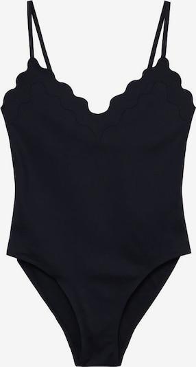MANGO Badeanzug 'wavy' in schwarz, Produktansicht