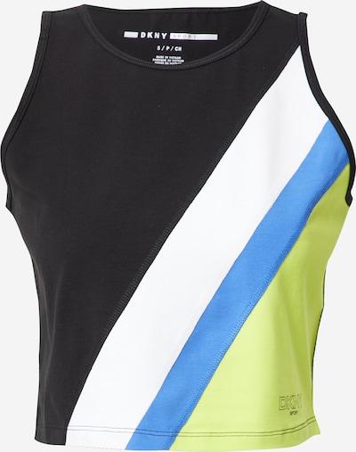 DKNY Performance Haut en bleu / citron vert / noir / blanc, Vue avec produit