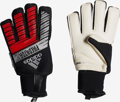 ADIDAS PERFORMANCE Sporthandschuh in rot / schwarz / weiß: Frontalansicht