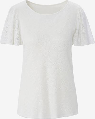 Peter Hahn Kurzarmpullover in weiß, Produktansicht