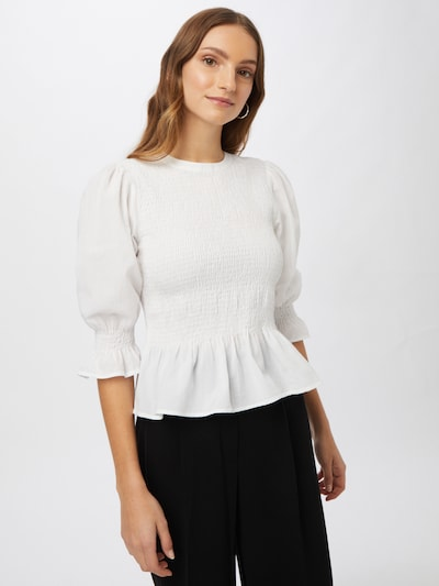 Q/S designed by Blouse in de kleur Wit, Modelweergave