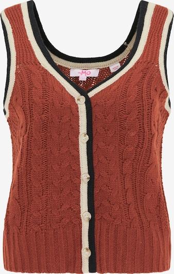 MYMO Kamizelka z dzianiny w kolorze rdzawoczerwony / czarny / białym, Podgląd produktu
