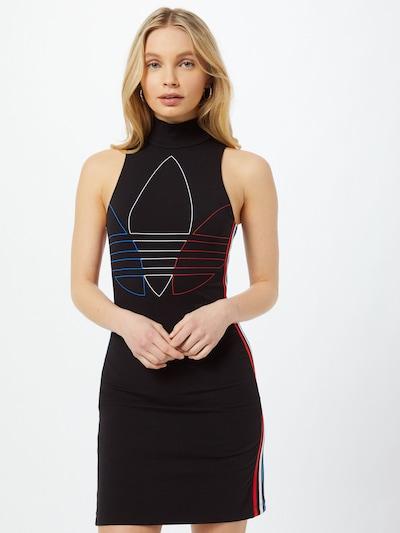 ADIDAS ORIGINALS Kleid in blau / rot / schwarz / weiß, Modelansicht
