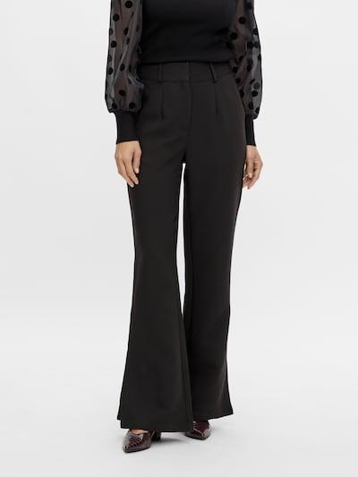 Y.A.S Bandplooibroek 'Thea' in de kleur Zwart, Modelweergave