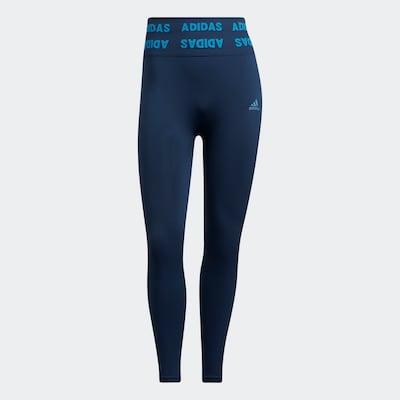 ADIDAS PERFORMANCE Sportbroek in de kleur Navy / Lichtblauw, Productweergave