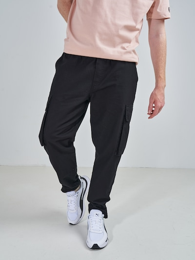 ABOUT YOU x Swalina&Linus Карго панталон 'Marlo' в черно, Преглед на модела