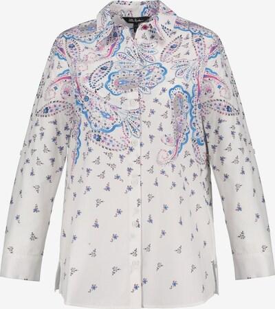 Ulla Popken Bluse '792509' in blau / pink / schwarz / offwhite, Produktansicht