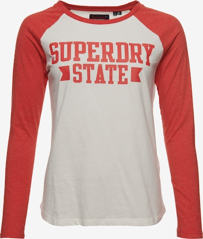 Superdry Oberteil in rot / weiß, Produktansicht