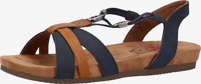 Relife Sandale in marine / cognac, Produktansicht