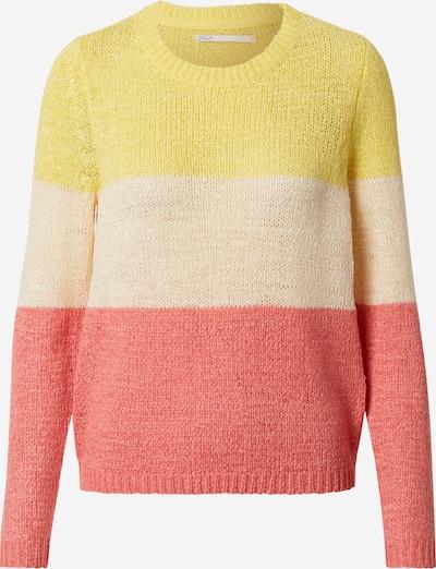 ONLY Pullover 'Geena' in gelb / rosa / offwhite, Produktansicht