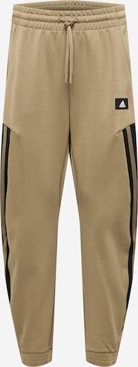 ADIDAS PERFORMANCE Sporthose in camel / schwarz / weiß, Produktansicht