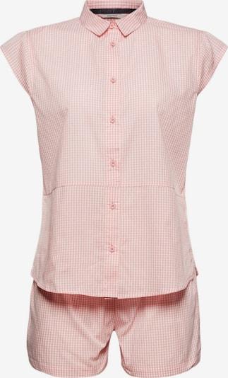 ESPRIT Korte pyjama in de kleur Pastelrood / Wit, Productweergave