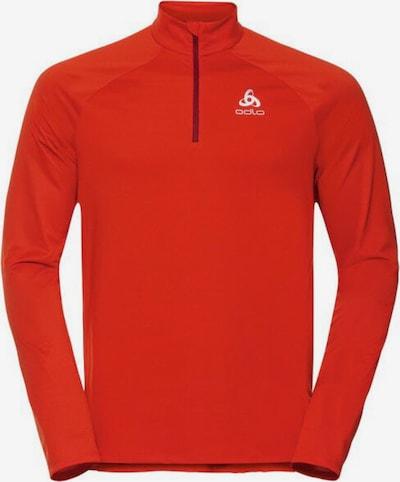 ODLO Sportsweatshirt 'CERAMIWARM ELEMENT' in dunkelorange / weiß, Produktansicht