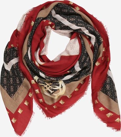 Fular 'KATEY' GUESS pe maro deschis / roșu / alb, Vizualizare produs