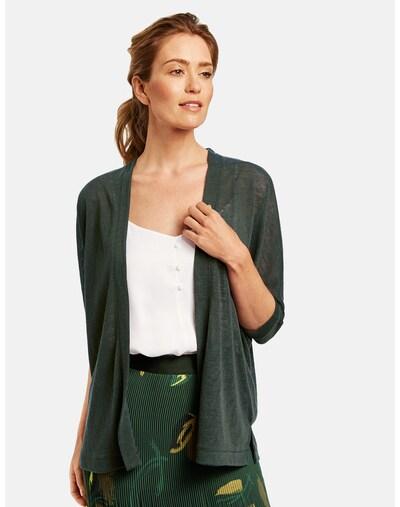 GERRY WEBER Strickjacke in dunkelgrün, Modelansicht