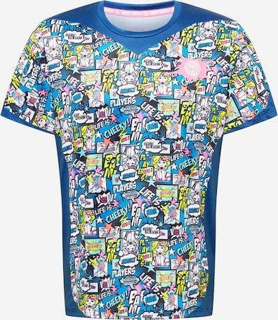 BIDI BADU T-Shirt 'Jiro Tech' in royalblau / himmelblau / gelb / rosa / weiß, Produktansicht