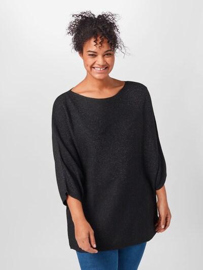 Megztinis iš Esprit Curves , spalva - juoda / Sidabras: Vaizdas iš priekio