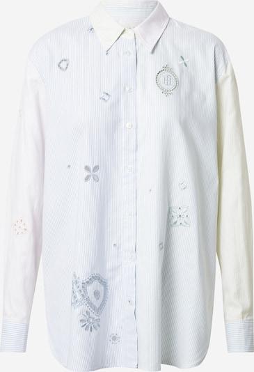 TOMMY HILFIGER Chemisier en bleu clair / jaune pastel / rose pastel / blanc, Vue avec produit