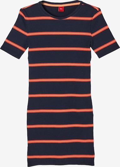 s.Oliver Kleid in dunkelblau / orangerot, Produktansicht