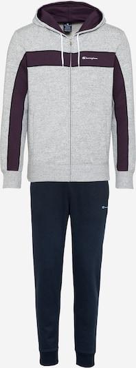Champion Authentic Athletic Apparel Tepláková souprava 'Hooded Full Zip Suit' - námořnická modř / šedá, Produkt