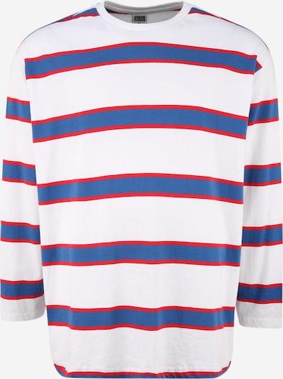 Urban Classics Plus Size Shirt in royalblau / grenadine / weiß, Produktansicht