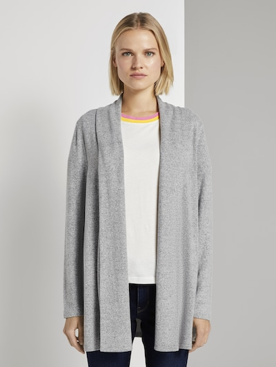 TOM TAILOR DENIM Strickjacke in grau, Modelansicht
