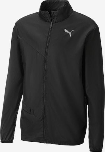 PUMA Sportjas 'Ignite Running Gewebte' in de kleur Zwart / Wit, Productweergave